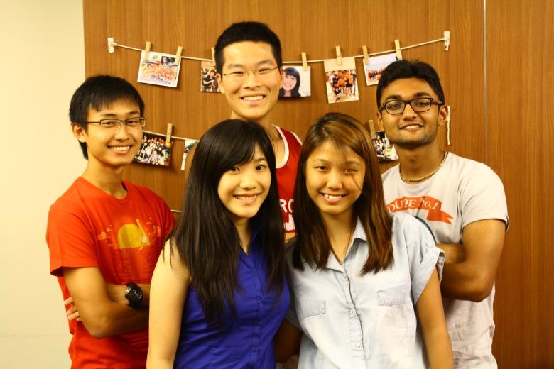 Clockwise from left: Glenn Heng, Goh Seng Chiy, Arjun Balasubramaniam, See    Ying Ting, and Mitchelle Ang.