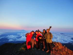 At the summit of Mount Agung