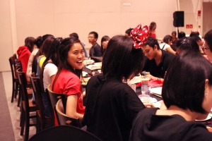 Sponsored formal dinner at the dining hall