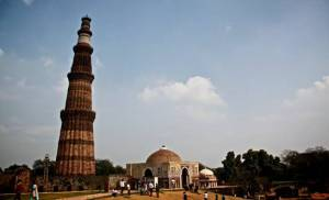 Qutb Minar, constructed in 1193 and still standing strong today