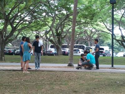 Filming of the MV at East Coast Park