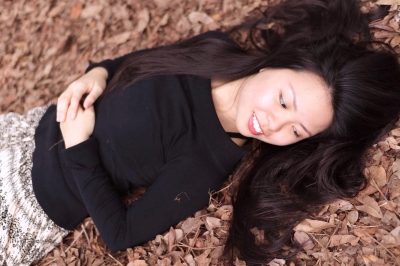 Cover shot lying on leaves
