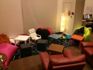 Chatterbox with new beanbags and rearranged furniture